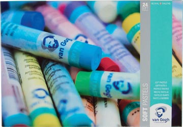 Van Gogh pastel douce, boîte de 24 pastels