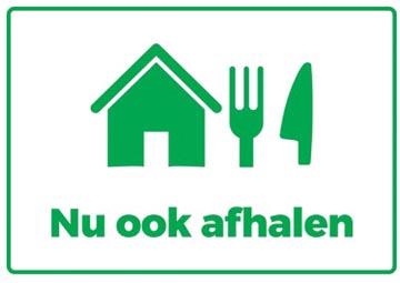 Autocollant, texte: Nu ook afhalen, ft A4 (seulement en néerlandais)