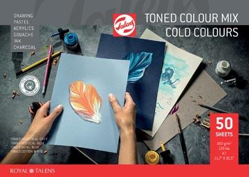 Talens papier à dessin de couleur, couleurs froides, ft A3