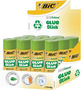 Bic baton de colle Ecolutions 36 g, présentoir de 12 pièces