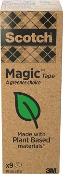 Ruban adhésif Magic Tape: A greener choice, ft 19 mm x 33 m, tour de 9 rouleaux