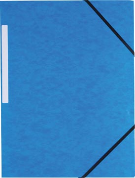 Pergamy elastomap 3 kleppen donkerblauw, pak van 10 stuks