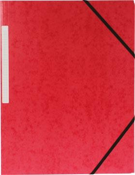 Pergamy elastomap 3 kleppen rood, pak van 10 stuks