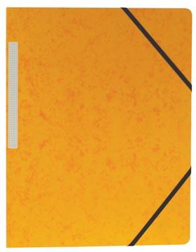 Pergamy elastomap, ft A4 (24x32 cm), met elastieken zonder kleppen, geel, pak van 10 stuks