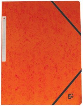 Pergamy elastomap, ft A4 (24x32 cm), met elastieken zonder kleppen, oranje, pak van 10 stuks