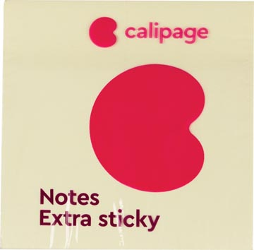 Calipage Extra Sticky notes, ft 76 x 76 mm, geel, blok van 90 vel
