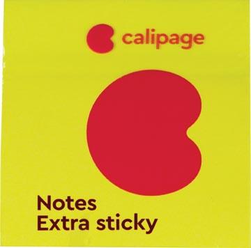Calipage Extra Sticky notes, ft 76 x 76 mm, neon , blok van 90 vel, pak van 6 stuks
