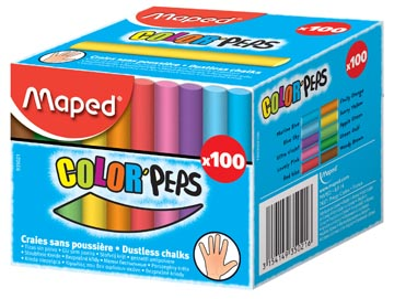 Maped craie, couleurs assorties
