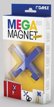 Dahle Mega Magnet Cross, Neodymium magneet, kruisvormig, blauw