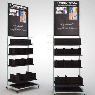 Correctbook présentoir de sol en 282 pièces