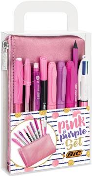 Bic Pink & Purple schrijfset 8-delig