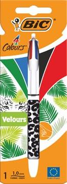 Bic balpen 4 Colours Velours, op blister