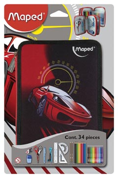 Maped gevulde pennenzak cars 34-delig