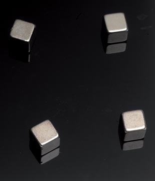 Naga aimant pour tableaux en verre, ft 10 x 10 x 10 mm, 4 pièces