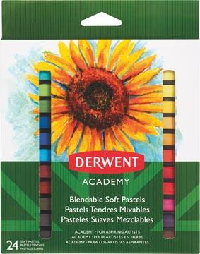 Derwent softpastels Academy , blister van 8 stuks in geassorteerde kleuren