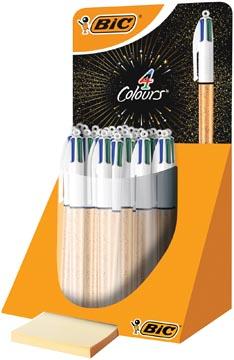 Bic 4 Colours Orginal stylo bille, or, présentoir de 30 pièces