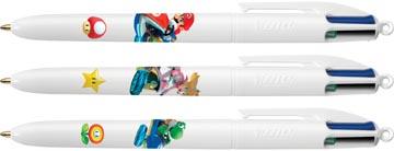 Bic 4 Colours stylo bille Mario, clipstrip de 12 blisters