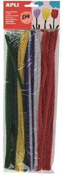 Apli chenilledraad, blister met 50 stuks, geassorteerde kleuren
