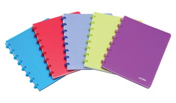 Atoma cahier Trendy ft 16,5 x 21 cm, quadrillé commercial, couleurs assorties