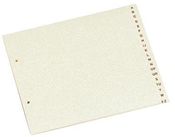 Class'ex tabbladen A-Z, ft 21 x 21,5/23 cm, 2-gaatsperforatie, karton, gems