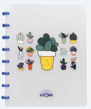 Atoma cahier Chill ft A5, quadrillé 10 mm, couleurs assorties