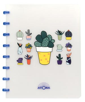 Atoma cahier Chill ft A5, ligné, couleurs assorties