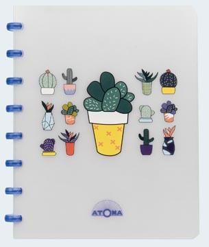 Atoma cahier Chill ft A5, quadrillé 5 mm, couleurs assorties