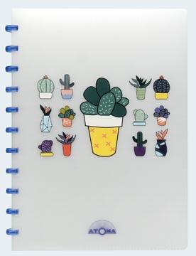Atoma cahier Chill ft A4, quadrillé 5 mm, couleurs assorties