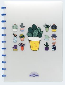 Atoma cahier Chill ft A4, quadrillé 10 mm, couleurs assorties
