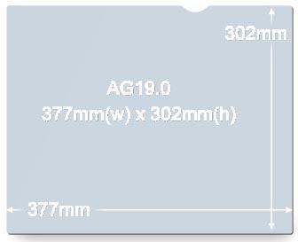 3M anti-glarefilter voor laptops van 19 inch, 5:4