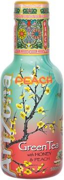 Arizona ijsthee Green Tea Peach, flesje van 500 ml, pak van 6 stuks
