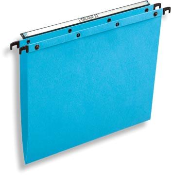 L'Oblique dossiers suspendus pour tiroirs AZO entraxe 330 mm (A4), fond en V, bleu