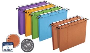 L'Oblique dossiers suspendus pour tiroirs AZO entraxe 380 mm, fond en V, orange