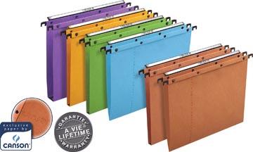 L'Oblique dossiers suspendus pour tiroirs AZO entraxe 380 mm, fond 30 mm, orange