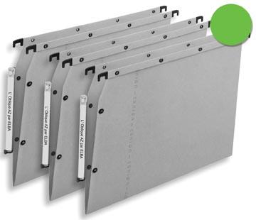 L'Oblique dossiers suspendus pour armoires AZV fond en V, vert