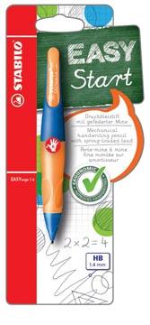 STABILO EASYergo vulpotlood, 1,4 mm, voor rechtshandigen, blister van 1 stuk, marine en oranje