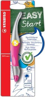 STABILO EASYoriginal metallic roller, voor linkshandigen, blister van 1 stuk, roze-zilver