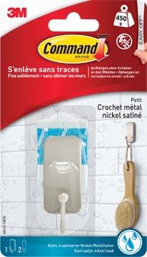 Command badkamerhaak klein, waterbestendig, uit nikkel