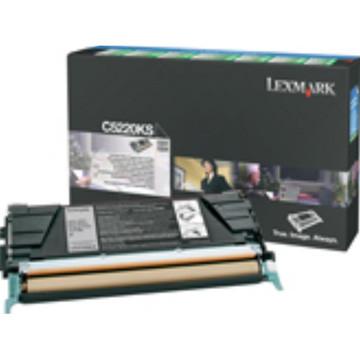 Lexmark toner noir, 4000 pages - OEM: C5220KS