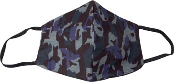 Masque lavable, motif army blue, taille: hommes, paquet de 5 pièces