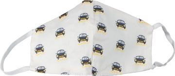 Masque lavable, motif cars, taille: enfants, paquet de 5 pièces