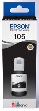 Epson inktfles 105, 140 ml, OEM C13T00Q140, zwart