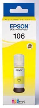 Epson inktfles 106, 70 ml, OEM C13T00Q440, geel
