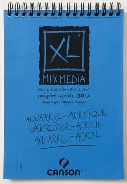 Canson album XL Mix Media 300 g/m² ft A4, bloc de 30 feuilles