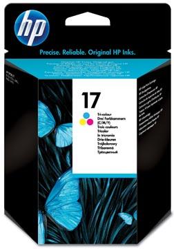 HP inktcartridge 17, 480 pagina's, OEM C6625A, 3 kleuren