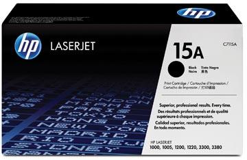 HP toner 15A, 2 500 pages, OEM C7115A, noir