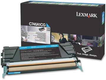 Lexmark Tonercartridge cyan return program - 7000 pagina's - C746A1CG