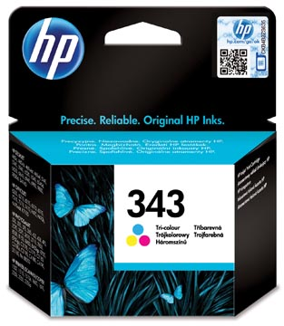 HP cartouche d'encre 343, 330 pages, OEM C8766EE, 3 couleurs