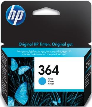 HP inktcartridge 364, 300 pagina's, OEM CB318EE#301, cyaan, met beveiligingssysteem