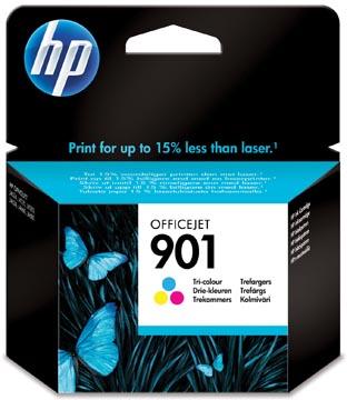 HP inktcartridge 901, 360 pagina's, OEM CC656AE#301, 3 kleuren, met beveiligingssysteem